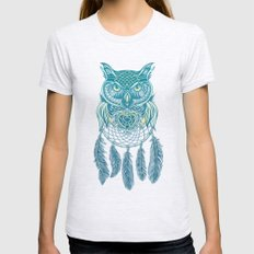 Midnight Dream Catcher Womens Fitted Tee X-LARGE Ash Grey