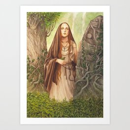 Viduca ~ A Compendium Of Witches Art Print