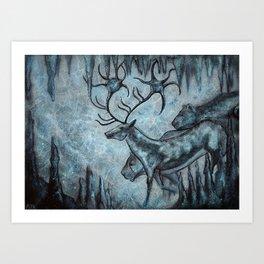 Crystal Cavern Procession Art Print