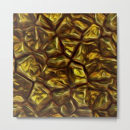 GOLD NUGGETS Metal Print