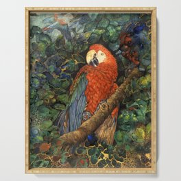 Scarlet Macaw Serving Tray