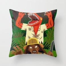 Lizardman Throw Pillow