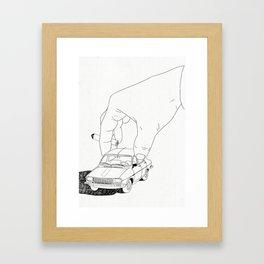 Driving home Framed Art Print