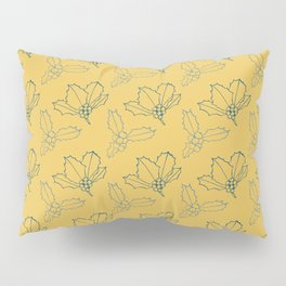 Holy Berries Blue on Gold Pillow Sham