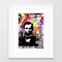 lincoln Framed Art Prints featuring Lincoln by Zoé Rikardo