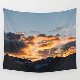 Alaskan Mountain Dawn VII Wall Tapestry