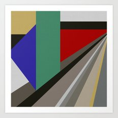 TRAVEL TO NOWHERE ABSTRACT Art Print
