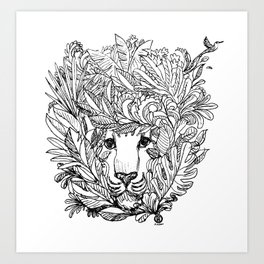 KIND LION Art Print