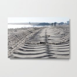 Traces in the sand 2 Metal Print