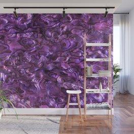 Abalone Shell | Paua Shell | Sea Shells | Patterns in Nature | Magenta Tint | Wall Mural