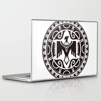 maori Laptop & iPad Skins featuring Maori and Polynesian style mix tribal. by TurkeysDesign