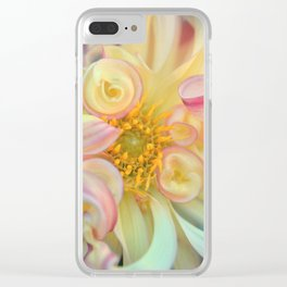 Yellow Dahlia Flower Bloom Clear iPhone Case