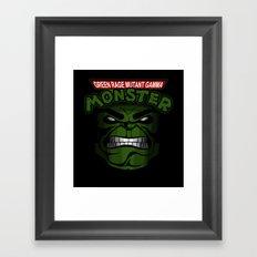 Green Rage Mutant Gamma Monster Framed Art Print