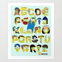 Simpsons Alphabet by mbaboon