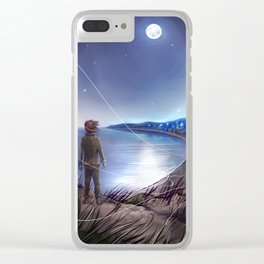 Penglass Moon Clear iPhone Case