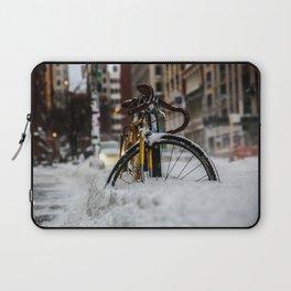 Bike stuck in snow Laptop Sleeve