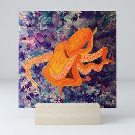 Tangerine Octopus Dream Mini Art Print