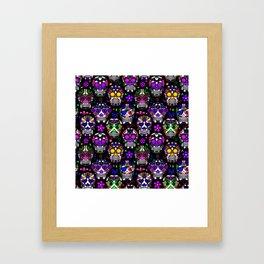 Candy Skulls Framed Art Print