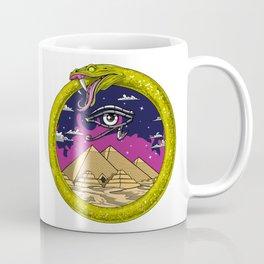 Egyptian Pyramids Ouroboros Snake Coffee Mug