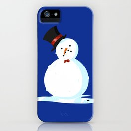 Sad Little Snowmen - winter pattern Christmas holiday iPhone Case