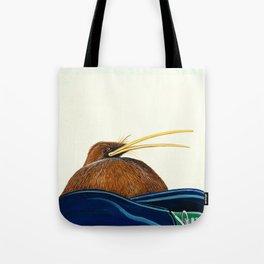 Kiwi on Sammy's lap Tote Bag