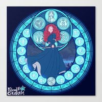 merida Canvas Prints featuring Merida by NicoleGrahamART