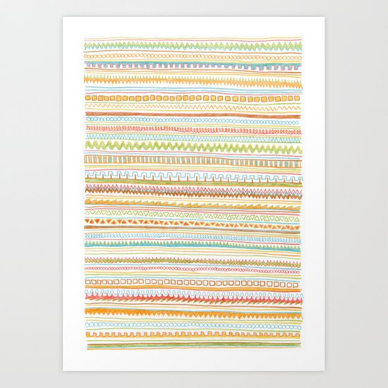 Pencil Doodles Art Print