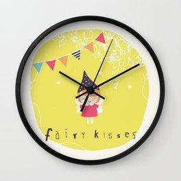 Fairy Kisses Wall Clock