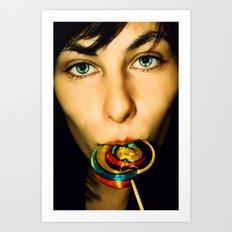 Acid Lollipops Art Print