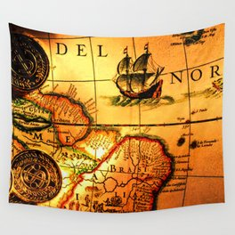 map sea Wall Tapestry