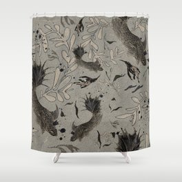 Lost. It's where she feels at ease. Shower Curtain