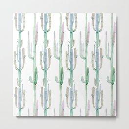 Arizona Wilderness Cactus Pattern Metal Print