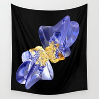 bow Wall Tapestries featuring Bow by lightningMade