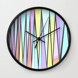 ZickZack pastell Wall Clock