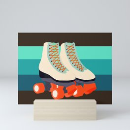 Retro Roller Skates Mini Art Print