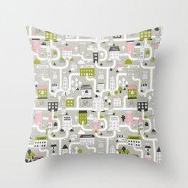 City map Throw Pillow