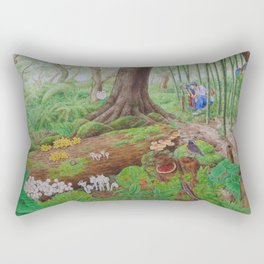 A Day of Forest (5). (dead wood ecosystem) Rectangular Pillow