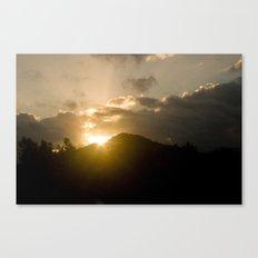 Mountain Sundown in Kauai, Hawaii Canvas Print
