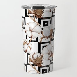 Cotton Flower Pattern 06 Travel Mug