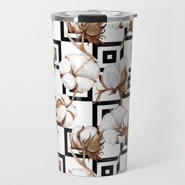 Cotton Flower Pattern 06 Travel Mug