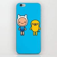 finn and jake iPhone & iPod Skins featuring #48 Jake and Finn by Brownjames Prints