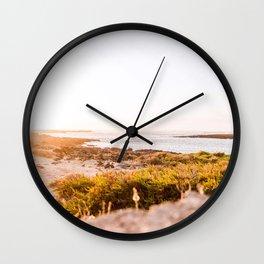 Sunset  | Calm natural travel fine art print | Fuerteventura, Canary Islands, Spain Wall Clock
