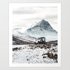 on the road in iceland Art Print