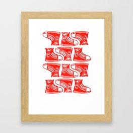 Chucks Away! Framed Art Print