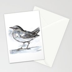 Bird with Heart Echo, Watercolor Stationery Cards