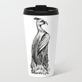 Elegant Feathers Travel Mug