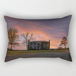 Old House at Sunset Rectangular Pillow