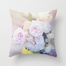 The Last Days of Spring - Old Roses III Throw Pillow