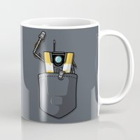 borderlands Mugs featuring P0ck37 by adho1982