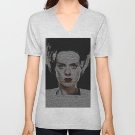 The Bride of Frankenstein Screenplay Print Unisex V-Neck